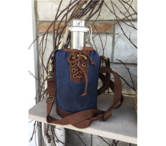 Growler Tote - Navy in Muskegon MI, Wasserman's Flower Shop