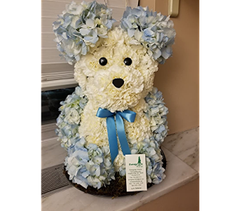 Large Floral Teddy Bear in Niagara Falls NY, Evergreen Floral