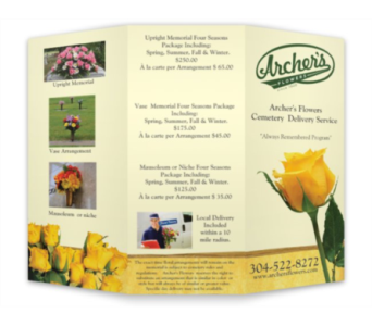 Always Remembered Cemetery Delivery Program in Huntington WV, Archer's Flowers and Gallery