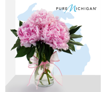 Michigan Peony Bouquet in Southfield MI, Thrifty Florist