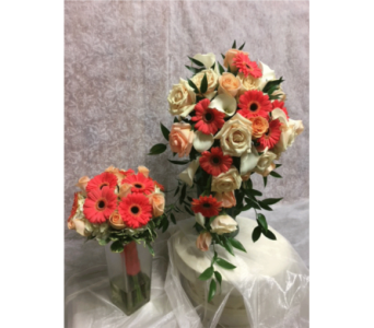 Bridal Bouquet(as shown on right) in Southampton PA, Domenic Graziano Flowers