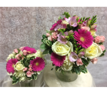 Bridesmaid Bouquet(as shown on left) in Southampton PA, Domenic Graziano Flowers