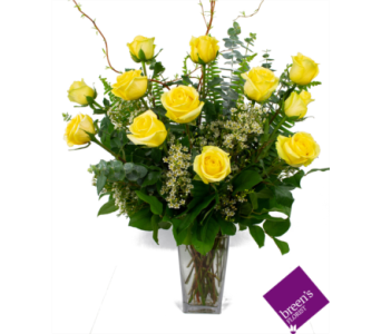 1 Dozen Yellow Roses in Houston TX, Breen's Clear Lake Flowers