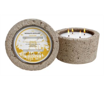 Marigold Mosquito Repellent Candle in Detroit and St. Clair Shores MI, Conner Park Florist