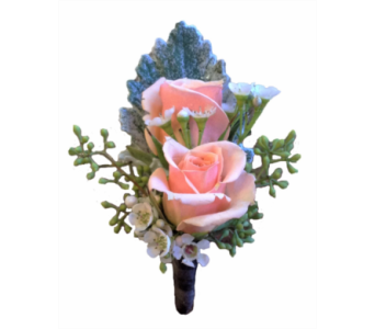 Pink Spray Rose Boutonniere in Stuart FL, Harbour Bay Florist
