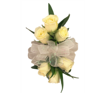 White Spray Rose Corsage in Stuart FL, Harbour Bay Florist