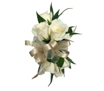 White Spray Roses Corsage in Stuart FL, Harbour Bay Florist