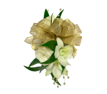 Spray Rose and Orchid Corsage in Stuart FL, Harbour Bay Florist