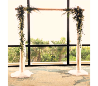Bamboo Arbor with Sheer Fabric in Stuart FL, Harbour Bay Florist