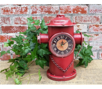 Fire Hydrant Clock in Auburn IN, The Sprinkling Can