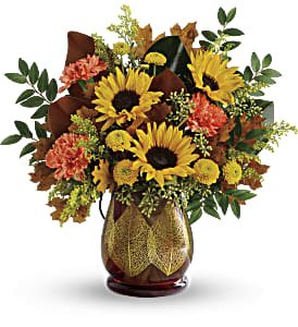 Teleflora's Changing Leaves Bouquet in San Jose CA, Amy's Flowers