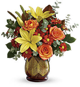 Teleflora's Citrus Harvest Bouquet in Madison WI, George's Flowers, Inc.