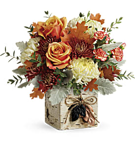 Teleflora's Fall In Bloom Bouquet in Williston ND, Country Floral