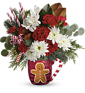 Send A Hug Gingerbread Greetings Bouquet in Ponte Vedra Beach FL, The Floral Emporium