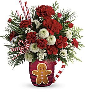 Send A Hug Winter Sips Bouquet by Teleflora in Park Ridge IL, High Style Flowers