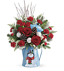 Teleflora's Snowy Daydreams Bouquet in Park Ridge IL, High Style Flowers