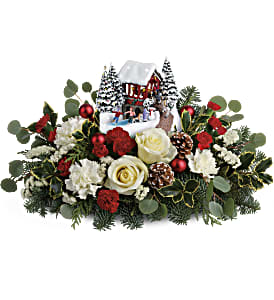 Thomas Kinkade's Christmas Bridge Bouquet in Ponte Vedra Beach FL, The Floral Emporium
