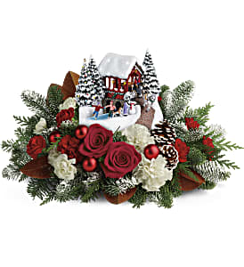 Thomas Kinkade's Snowfall Dreams Bouquet in Ponte Vedra Beach FL, The Floral Emporium