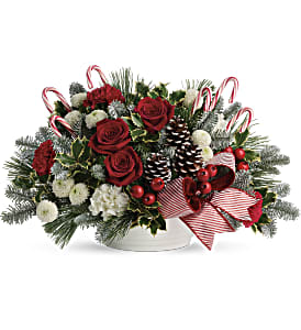 Jolly Candy Cane Bouquet in Wheeling IL, Wheeling Flowers