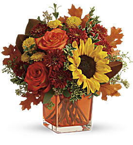 Teleflora's Hello Autumn Bouquet in Bakersfield CA, White Oaks Florist