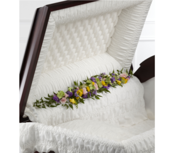The FTD Trail of Flowers Casket Adornment in Southfield MI, Thrifty Florist