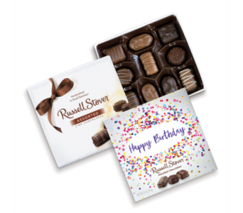 Russell Stover Assorted Chocolates Birthday Box in St. Petersburg FL, The Flower Centre of St. Petersburg