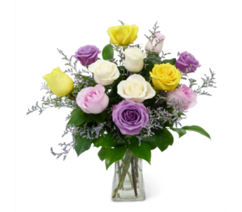Fresh Assorted Roses in Silver Spring MD, Bell Flowers, Inc