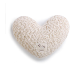 Cream Giving Heart in Fort Worth TX, Greenwood Florist & Gifts