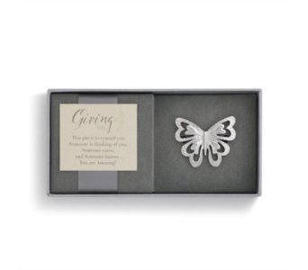 Silver Butterfly Giving Pin in Fort Worth TX, Greenwood Florist & Gifts