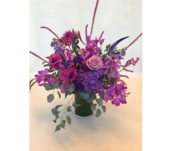 Purple Magic in Victoria BC, Fine Floral Designs