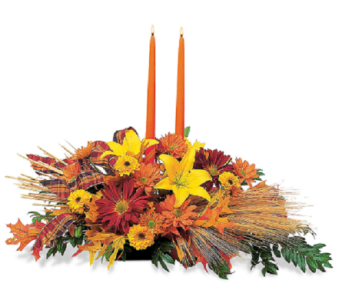 Autumn Centerpiece in Big Rapids MI, Patterson's Flowers, Inc.