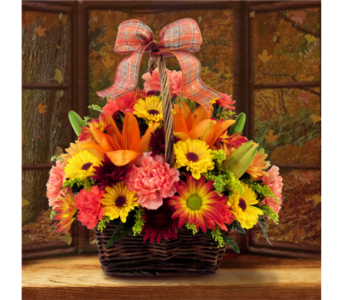 Basket of Fall Cheer in Southfield MI, Thrifty Florist