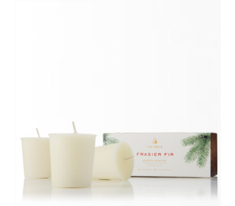 Frasier Fir Votive Candle Set in Detroit and St. Clair Shores MI, Conner Park Florist