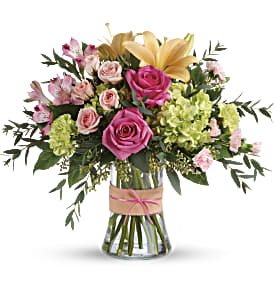 Blush Life Bouquet in Alliston, New Tecumseth ON, Bern's Flowers & Gifts