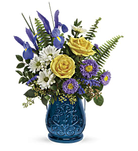 Teleflora's Sapphire Garden Bouquet in Los Angeles CA, RTI Tech Lab
