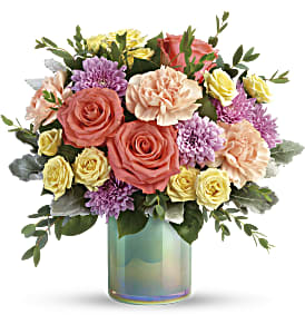 Teleflora's Pastel Shimmer Bouquet in Los Angeles CA, RTI Tech Lab