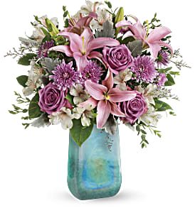Teleflora's Art Glass Treasure Bouquet in Los Angeles CA, RTI Tech Lab