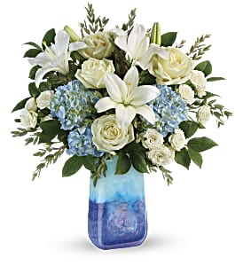 Teleflora's Ocean Sparkle Bouquet in Los Angeles CA, RTI Tech Lab