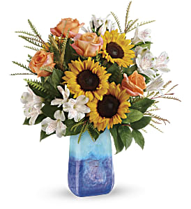 Teleflora's Sunflower Beauty Bouquet in Los Angeles CA, RTI Tech Lab