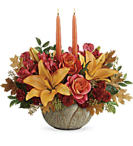 Teleflora's Artistic Glow Centerpiece in Los Angeles CA, RTI Tech Lab