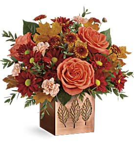 Teleflora's Copper Petals Bouquet in Los Angeles CA, RTI Tech Lab