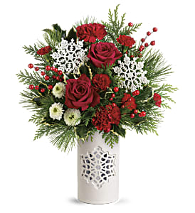 Teleflora's Flurry Of Elegance Bouquet in Los Angeles CA, RTI Tech Lab
