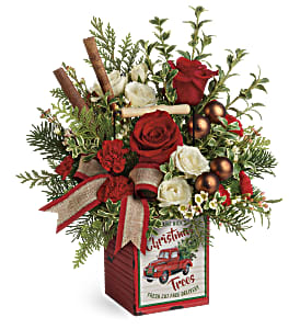 Teleflora's Quaint Christmas Bouquet in Los Angeles CA, RTI Tech Lab