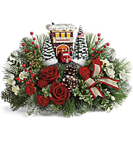 Thomas Kinkade's Festive Fire Station Bouquet in Los Angeles CA, RTI Tech Lab