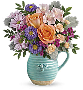 Teleflora's Busy Bee Pitcher Bouquet in Los Angeles CA, RTI Tech Lab