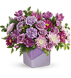 Teleflora's Shades Of Lavender Bouquet in Los Angeles CA, RTI Tech Lab