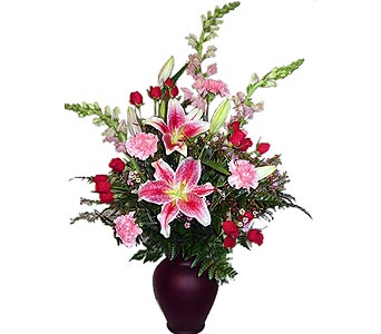 VF50 ''Red Passion'' Floral Bouquet in Oklahoma City OK, Array of Flowers & Gifts