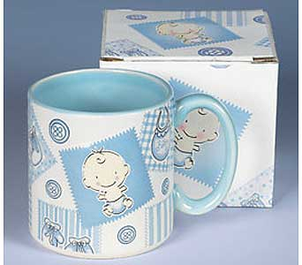 Baby Boy Mug in Chicago IL, Sauganash Flowers