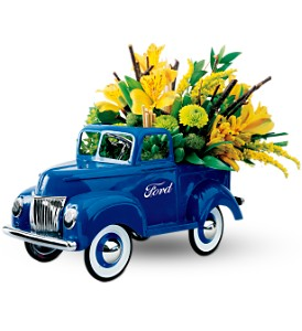 Teleflora's Classic Ford Pickup Bouquet in Orland Park IL, Sherry's Flower Shoppe