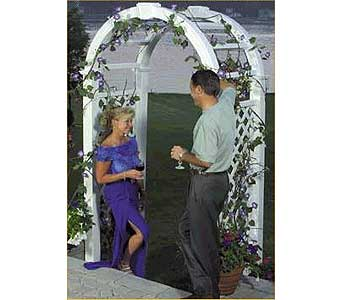 White Wedding Arbor in Grand Island NE, Roses For You!
